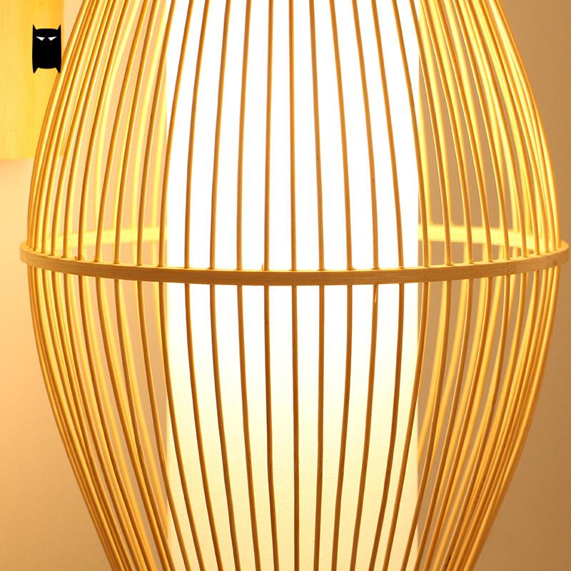 Japanese Bamboo Wicker Rattan Lantern Wall Lam Japan Dining Room Bedroom Lighting Style B
