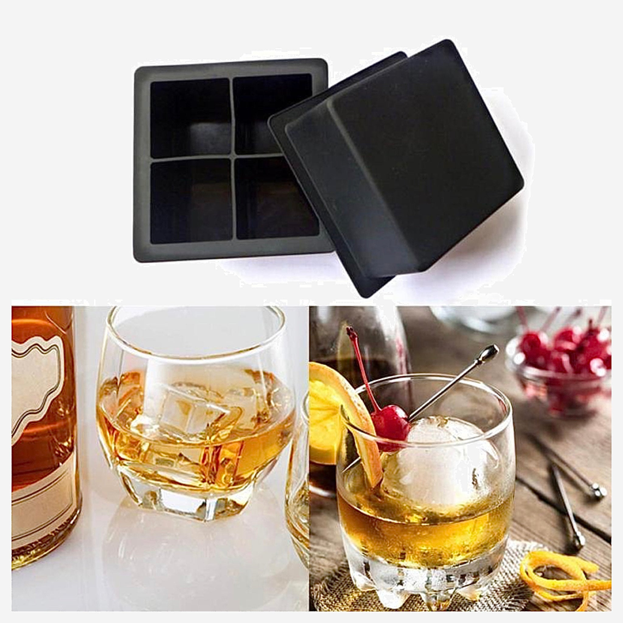 Extra Large Ice Cube Tray 4-Cell