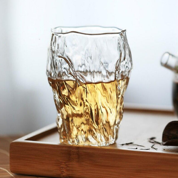 Japanese Creative Design Stake Shape Whisky Glass Classical Liquor Brandy Beer Tea Water Cup Japan Glassware Drinkware Trend