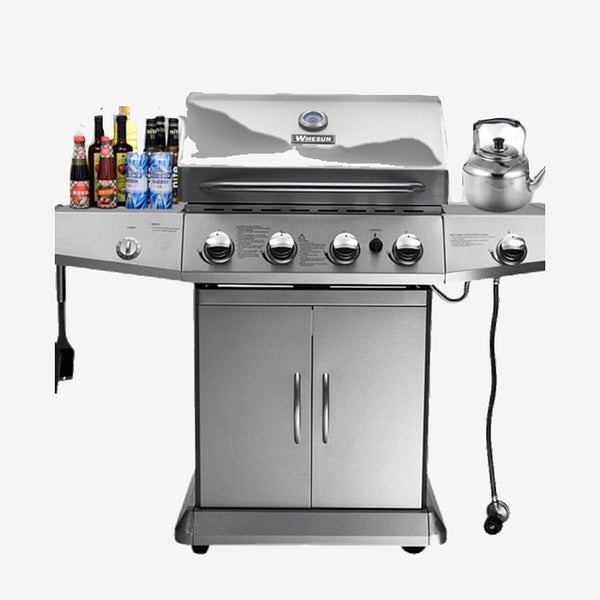 Outdoor Gas Barbecue Grill High-end configuration and perfect appearance four burner + side burner gas BBQ grills Trend