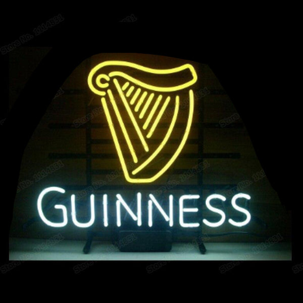 "GUINNESS IRISH LAGER ALE Neon Sign Handmade Real Glass Tube Home Bar Decoration Display Neon Signs 17""X14"" Trend"