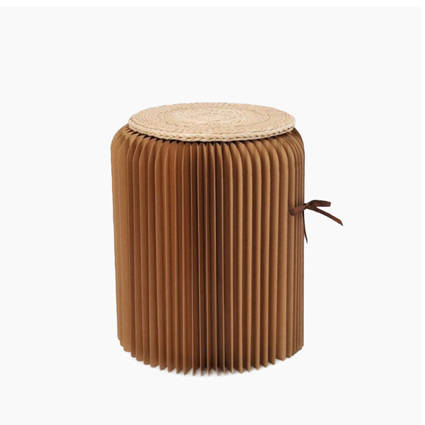 Foldable Accordion Kraft Paper Stool