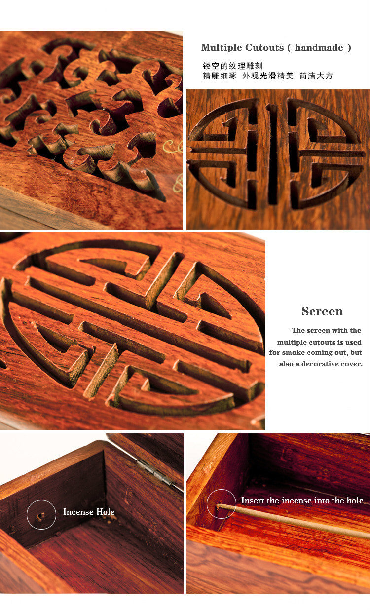 Vietnamese rosewood incense sticks box Vietnam Aromatherapy Accessories Style L