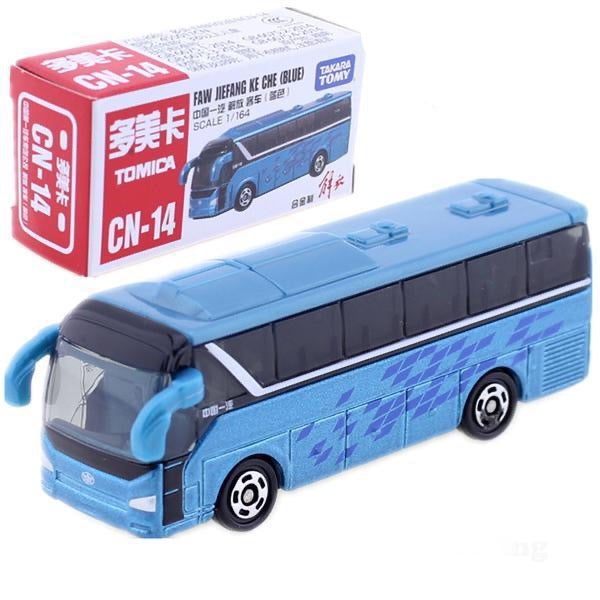 Trend Japanese TOMICA NO. CN-14 FAW JIEFANG KE CHE Bus Blue Special TAKARA TOMY Auto Car Motors vehicle DIECAST Japan Package Toys