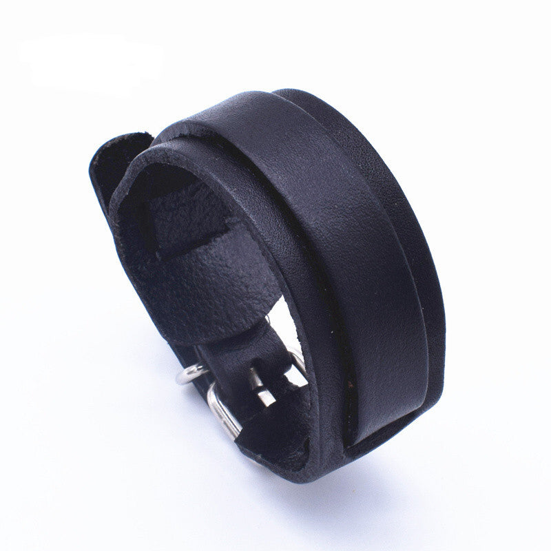 Personality Fashion Classic Adjustable Length Black Wrap Wristband Jewelry Bracelet Jewelry Style K