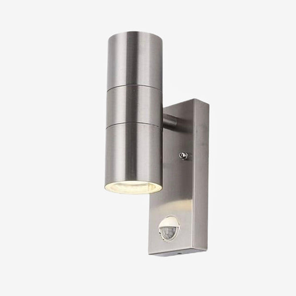 Sensor Motion Wall Light    Silver Stainless Steel Induction Movement Sensor PIR Motion Wall Light Double Outdoor 10W Wall Lamp IP54 Up Down Bracket Lamp Trend