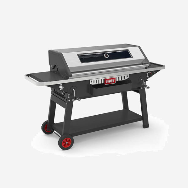 Gas and Charcoal Barbecue Grill Automatic Outdoor BBQ Trend