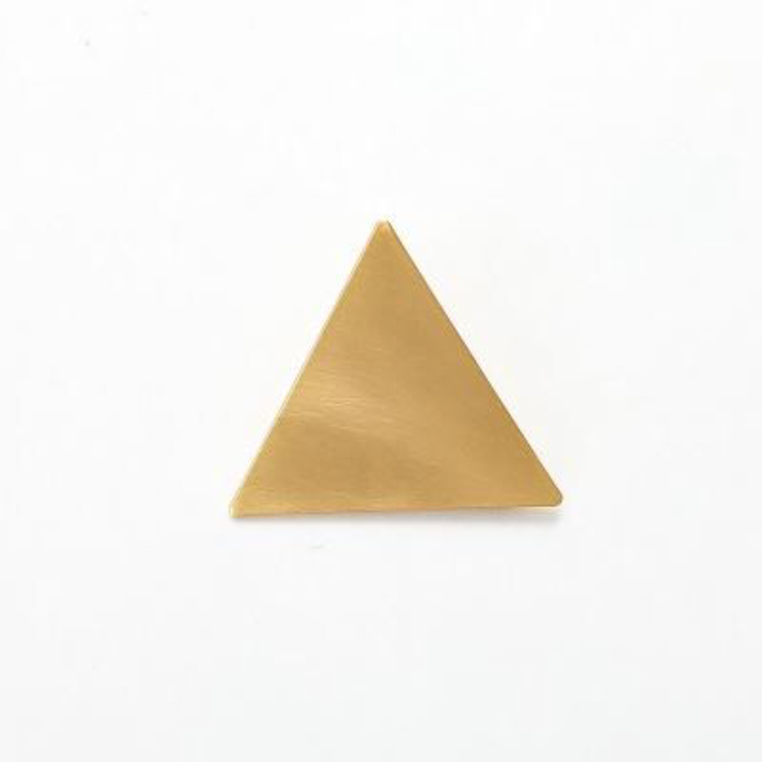 Trendy Chic Gold Minimalist Triangle Japanese Hair Accessories Metal Triangular-Cut Or Circle Hairpin Contracted Temperament Hair Clip Headwear Accessories