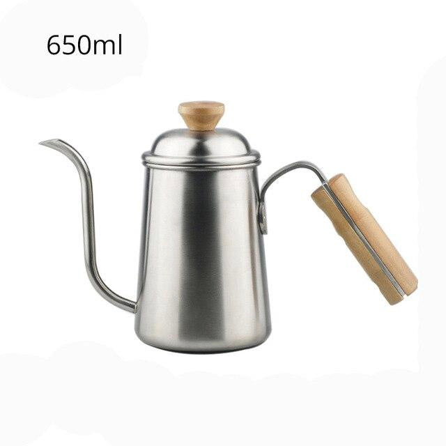 Long Narrow Gooseneck Spout Coffee Pot