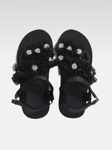 Japanese Beach Sandals       Japan wild harajuku black thick bottom increased by nearly 3cm platform women's footwear Trend