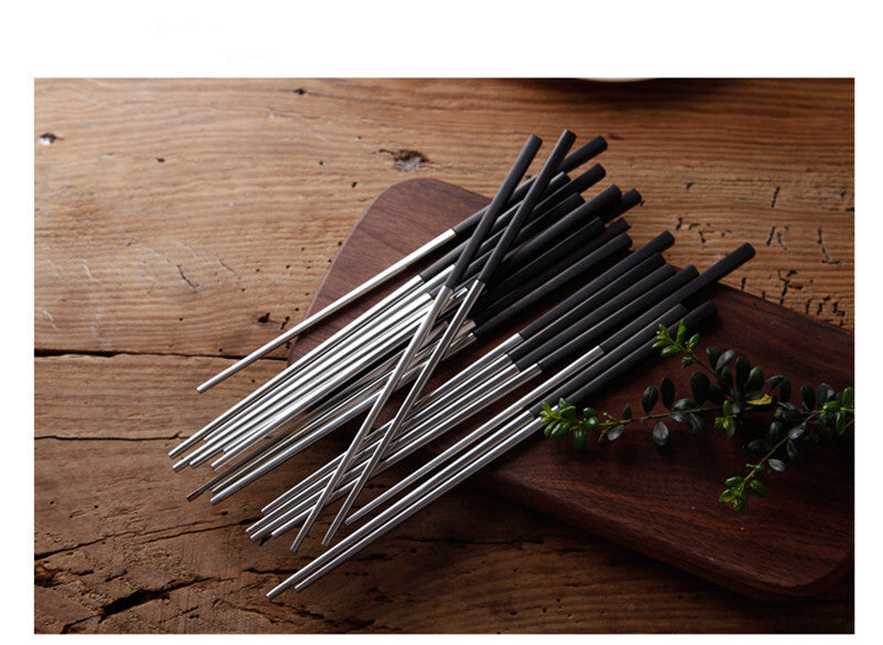 Korean Stainless Steel Chopsticks Sets Chinese Chopstick Korea Japanese Flatware Cutlery Tableware Style Z