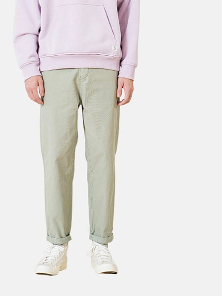 Tapered Cargo Pants     Vintage light green garment dyed loose 100% cotton retro plus size Mens trousers pants Trend