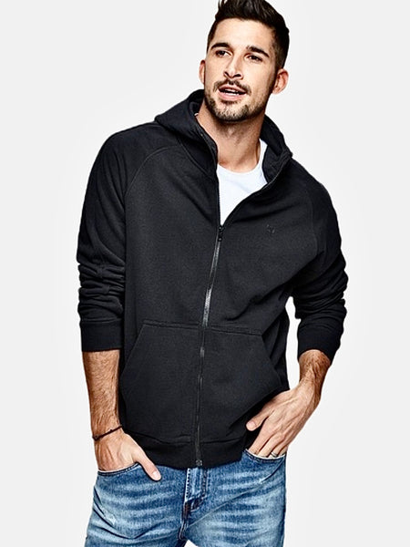 Supersoft Hooded Sweatshirt   100% Cotton Zipper Plus Size Black Hoodie Men's Sweatshirts Hip Hop Streetwear Trend