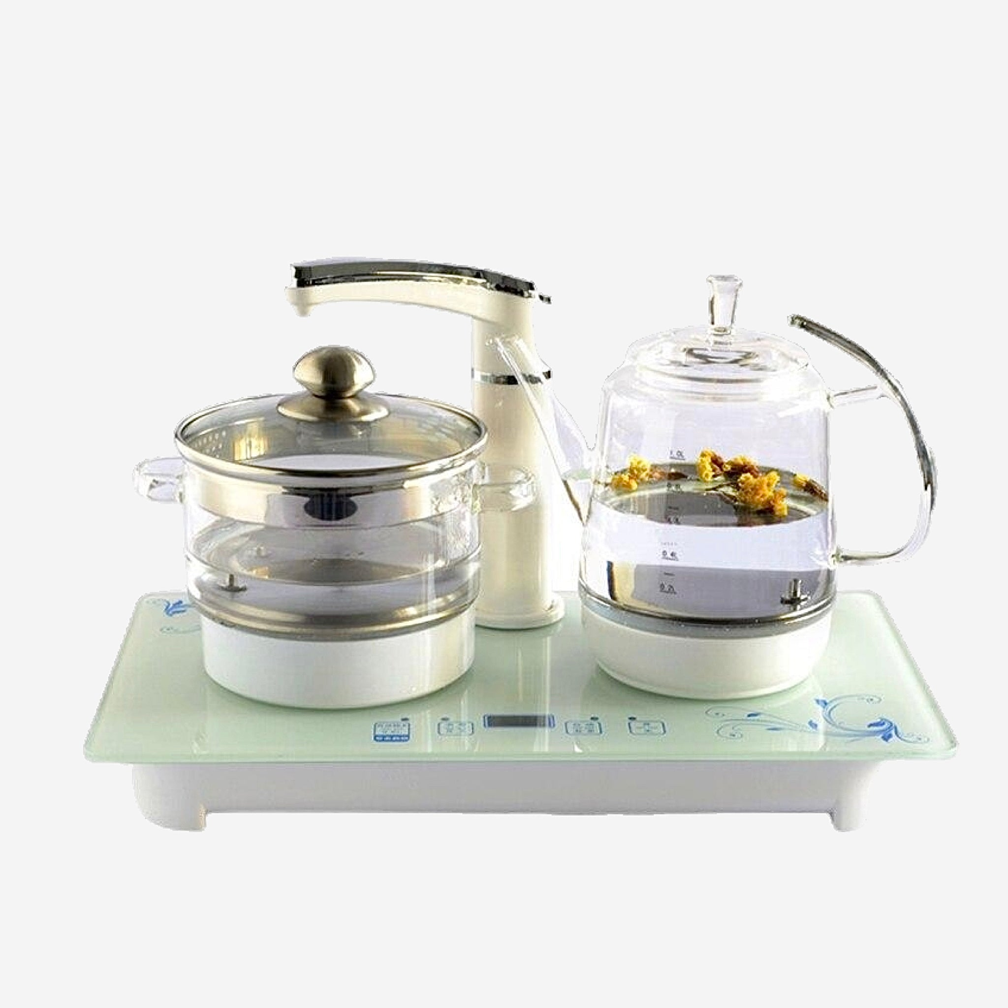 Electric Faucet Kettle Tea Set Smart glass raising pot flower teapot automatic upper water sets Kitchen Appliance Trend