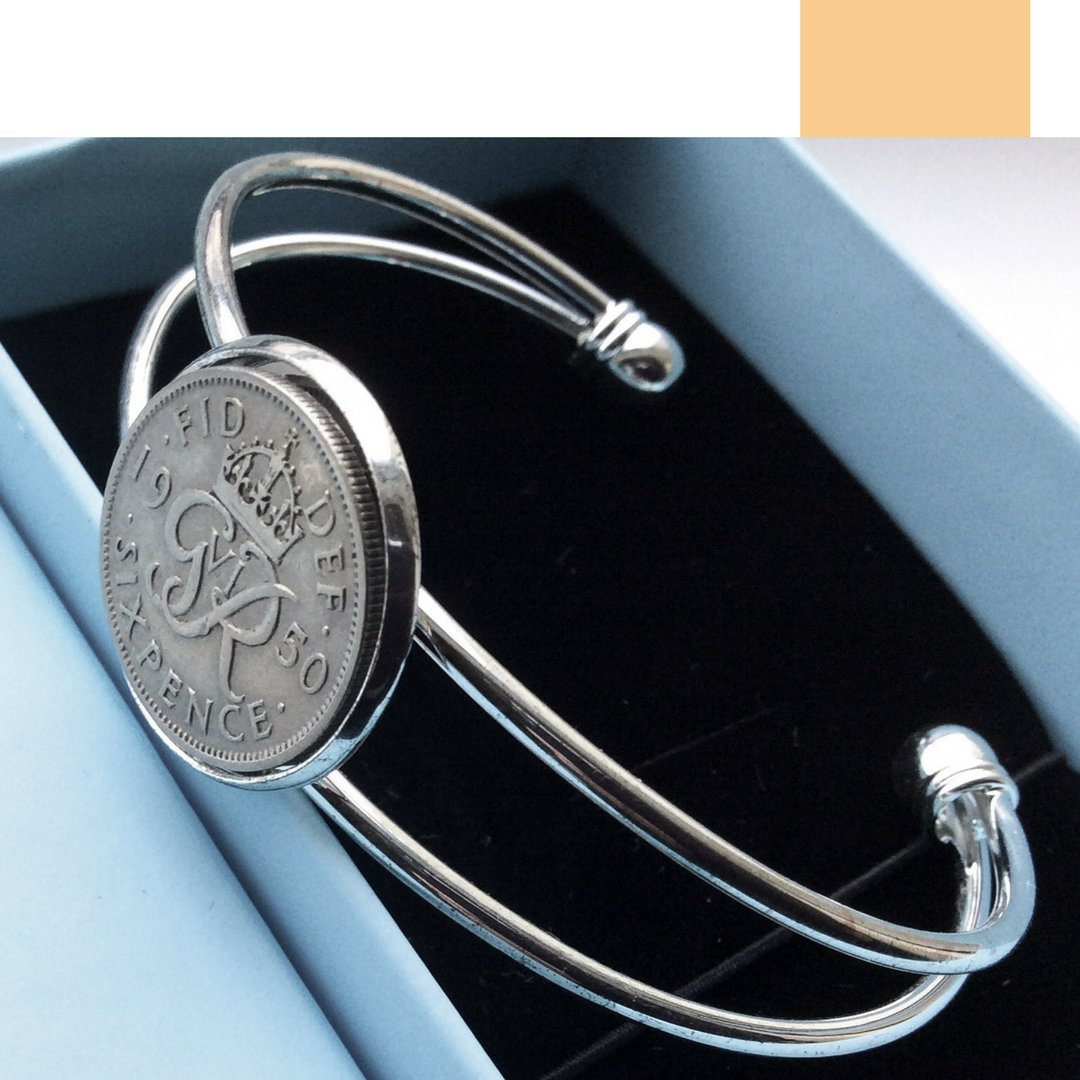 the British Lucky Sixpence Coin Bracelet - 未定義 miTeigi