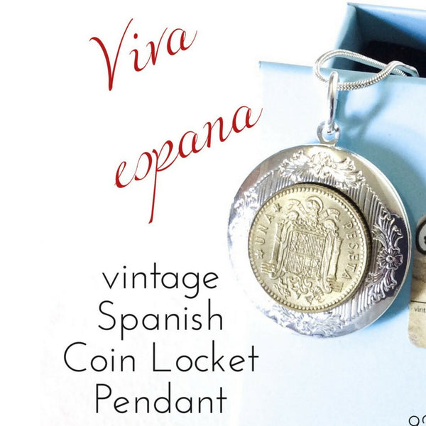 Spanish Coin Locket Pendant Necklace - 未定義 miTeigi