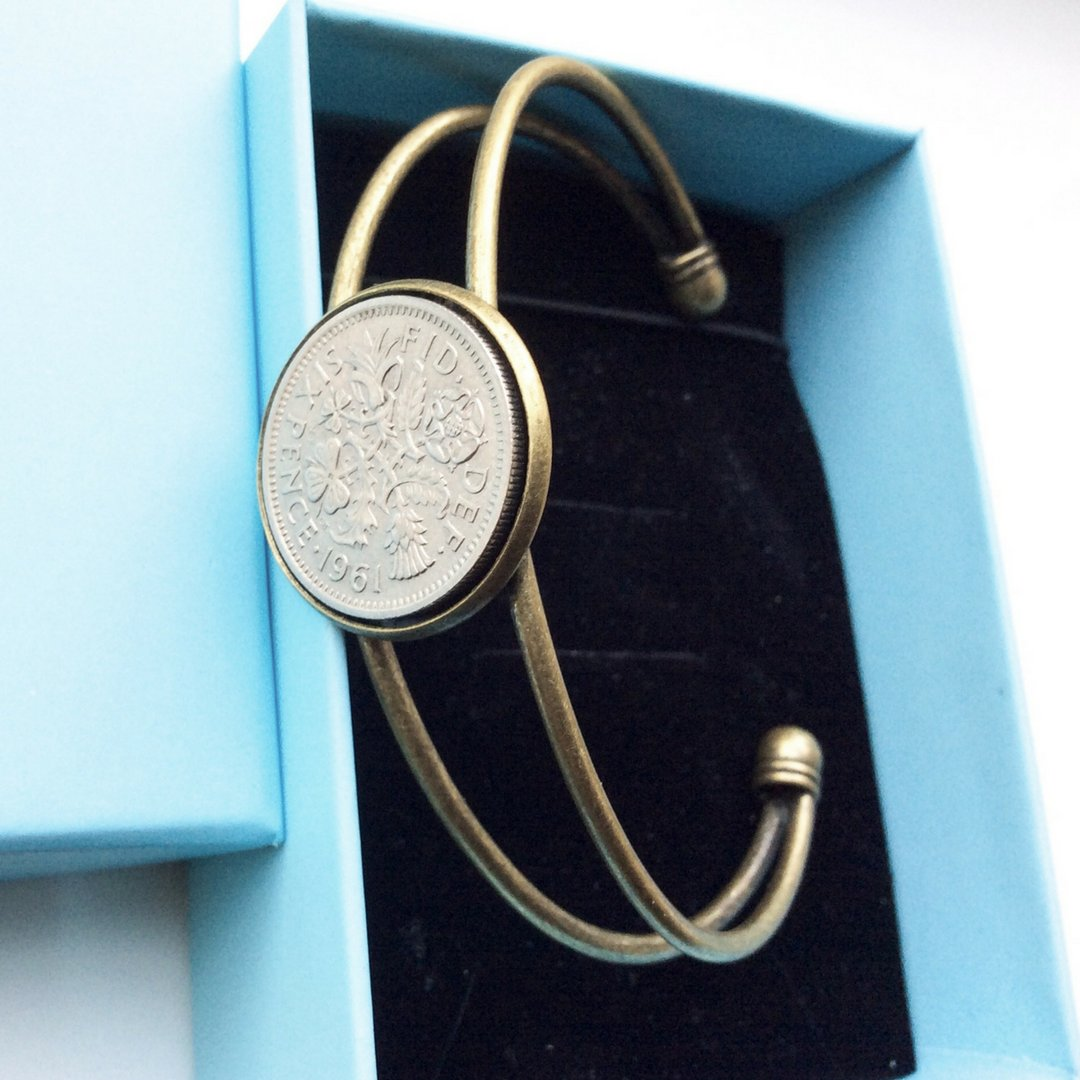 British Lucky Sixpence Coin Bracelet - 未定義 miTeigi
