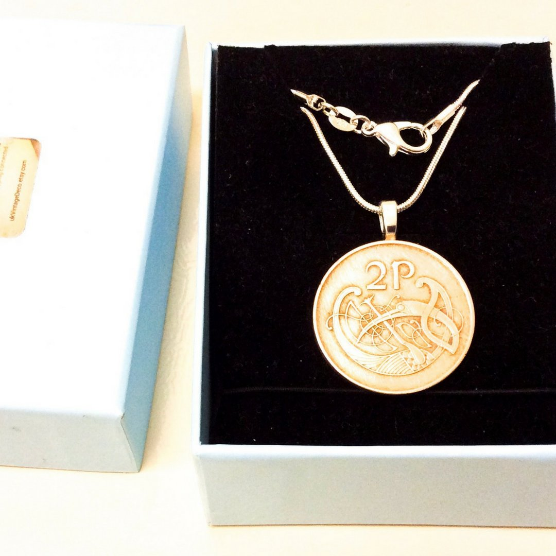 1971 Irish Coin Pendant Necklace - 未定義 miTeigi