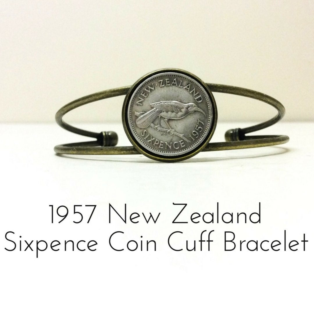 Sixpence 1957 New Zealand Coin Bracelet - 未定義 miTeigi