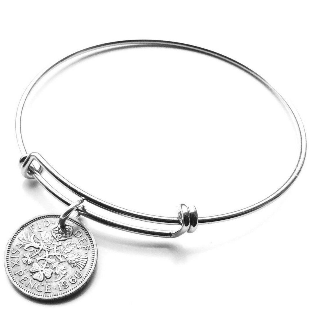 British Lucky Sixpence Coin Bangle Choose your year - 未定義 miTeigi