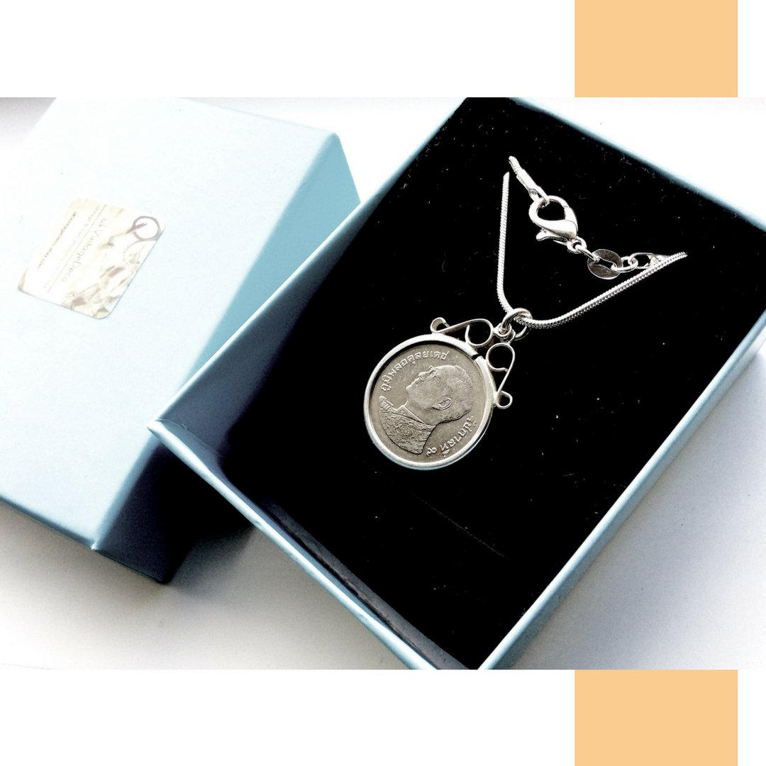 Thai Coin Pendant Necklace Sterling Silver - 未定義 miTeigi