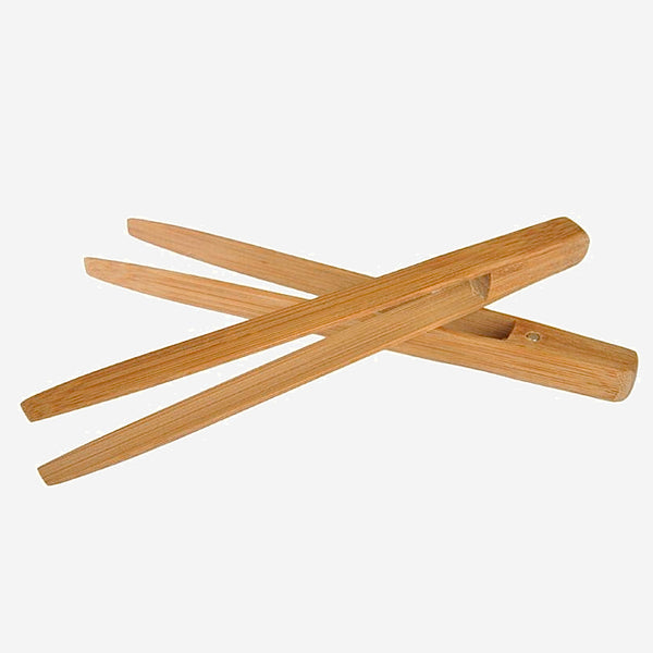 Bamboo Serving Tongs 2-Piece   Long Easy Grip for Cooking Toast Bread Barbecue Grilling Baking Frying Trend