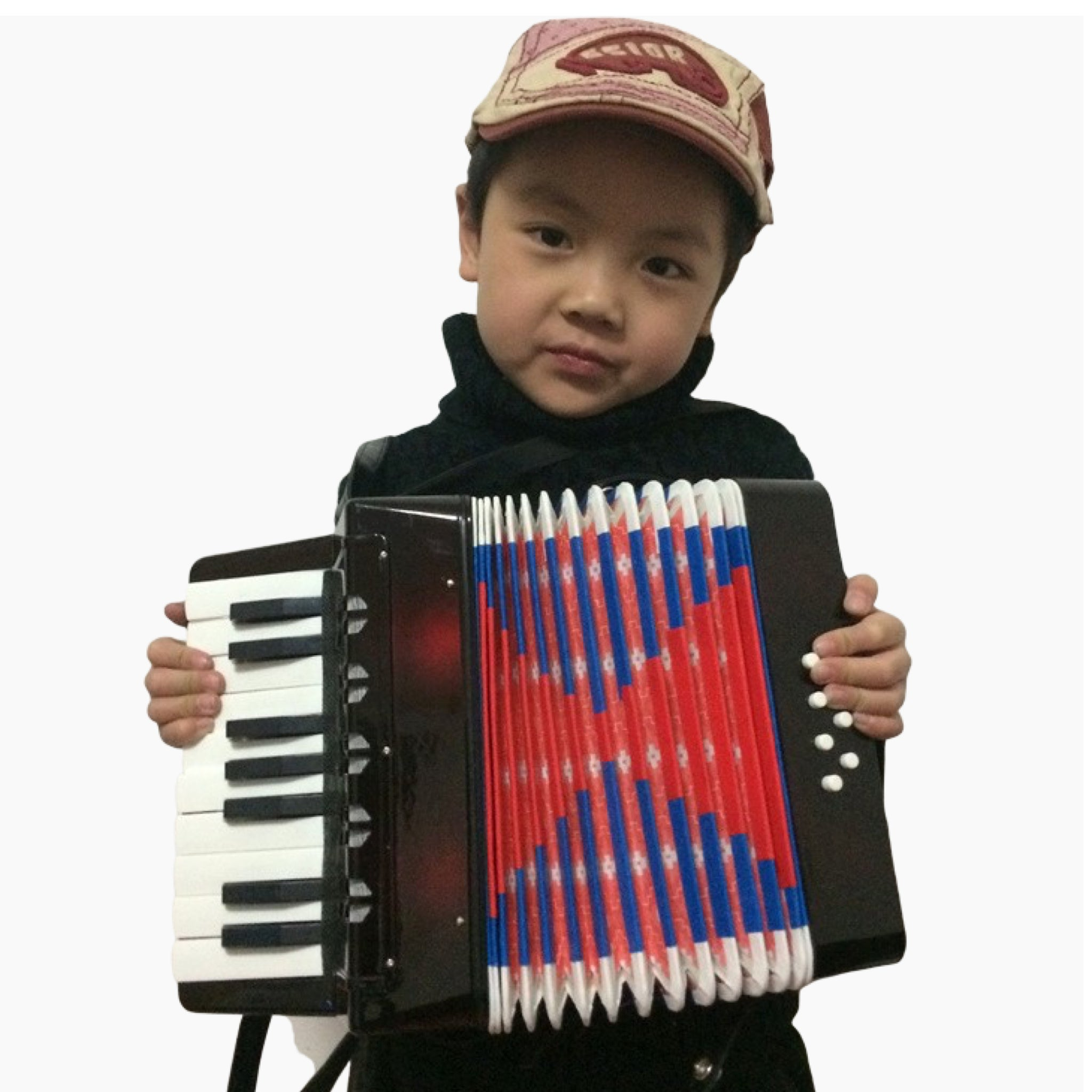 Mini Small Accordion 17-Key 8 Bass Educational Musical Instrument Rhythm Band Toy for Kids Children Gift Trend Style