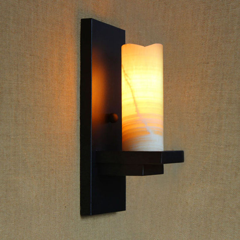 Retro Black Marble Wall Lamp