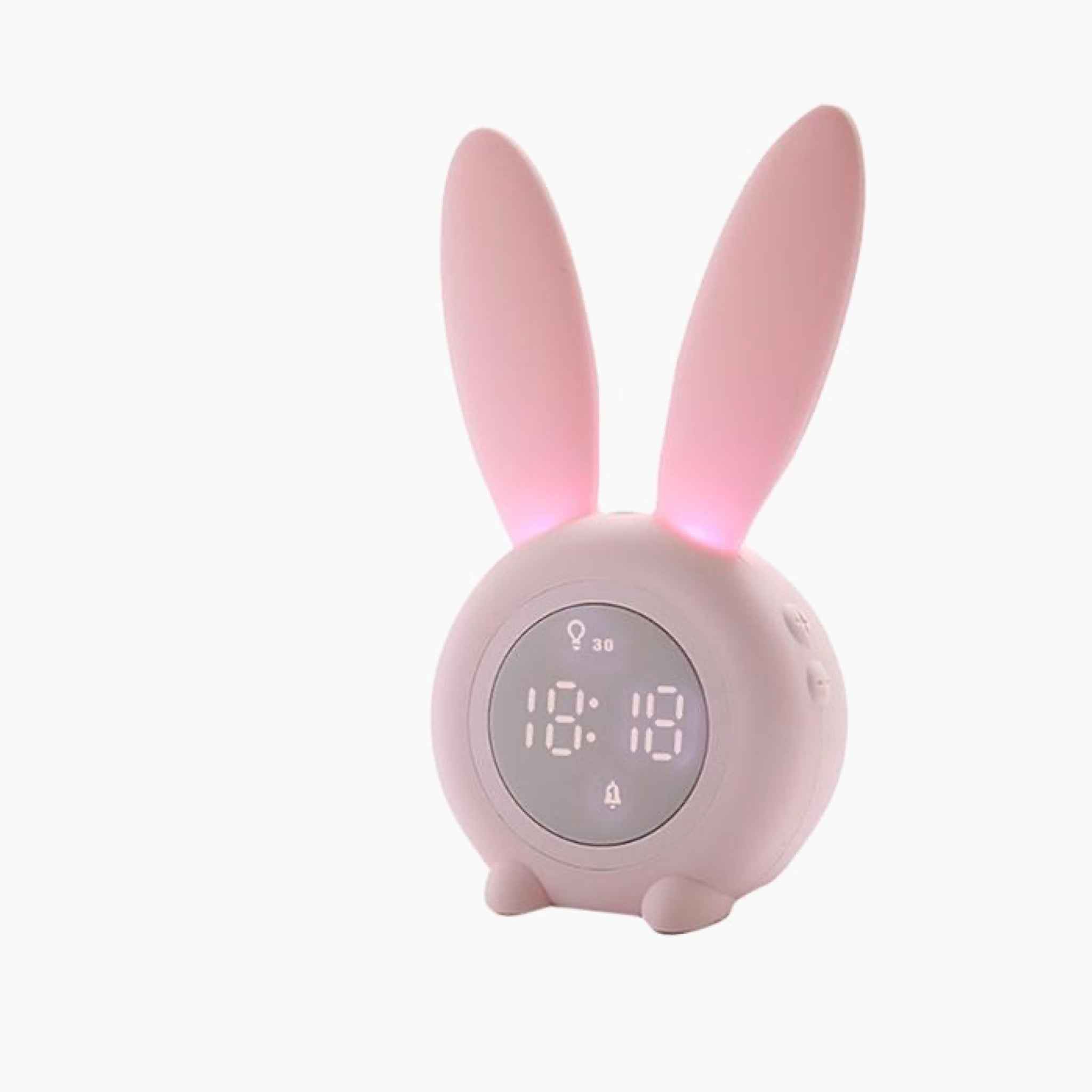 Cute Rabbit Pink Digital Alarm Clock Wake Up Light Table LED Lamp Snooze Clocks Sunrise Sunset Alarm Clock Table Decoration Bedroom Accessories Trend