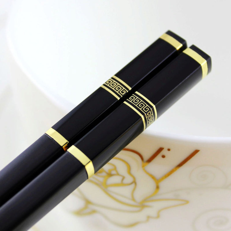 Gold Silver Japanese Chopsticks Dining Cutlery Sets Japan Style