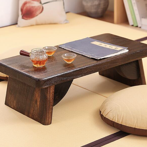 Japanese Rectangle Floor Tea Table Living Room Wooden Center Laptop Coffee Tatami Low End Table Wood Japan Asian Antique Furniture