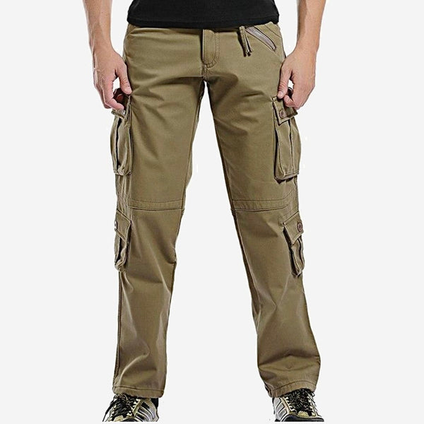Fleece Military Cargo   Pants Multi-pockets Baggy Mens Warm Khaki Cotton Casual Overalls Army Tactical Trousers Trend