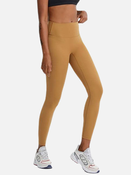 miFit High Rise Sports Pants       Classic khaki yellow color naked feel no camel toe squat proof Fitness Workout Legging Yoga Pants Sport Gym Legging Women's Pants Sportswear Trend