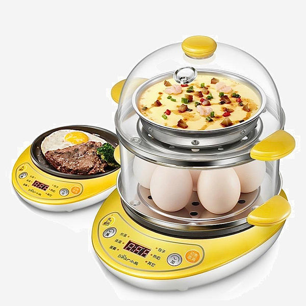 Automatic Egg Boiler Power-off Household Electric Cooker Fried Eggs Double Boiled Egg Mini Steamed Custard Machine Trend