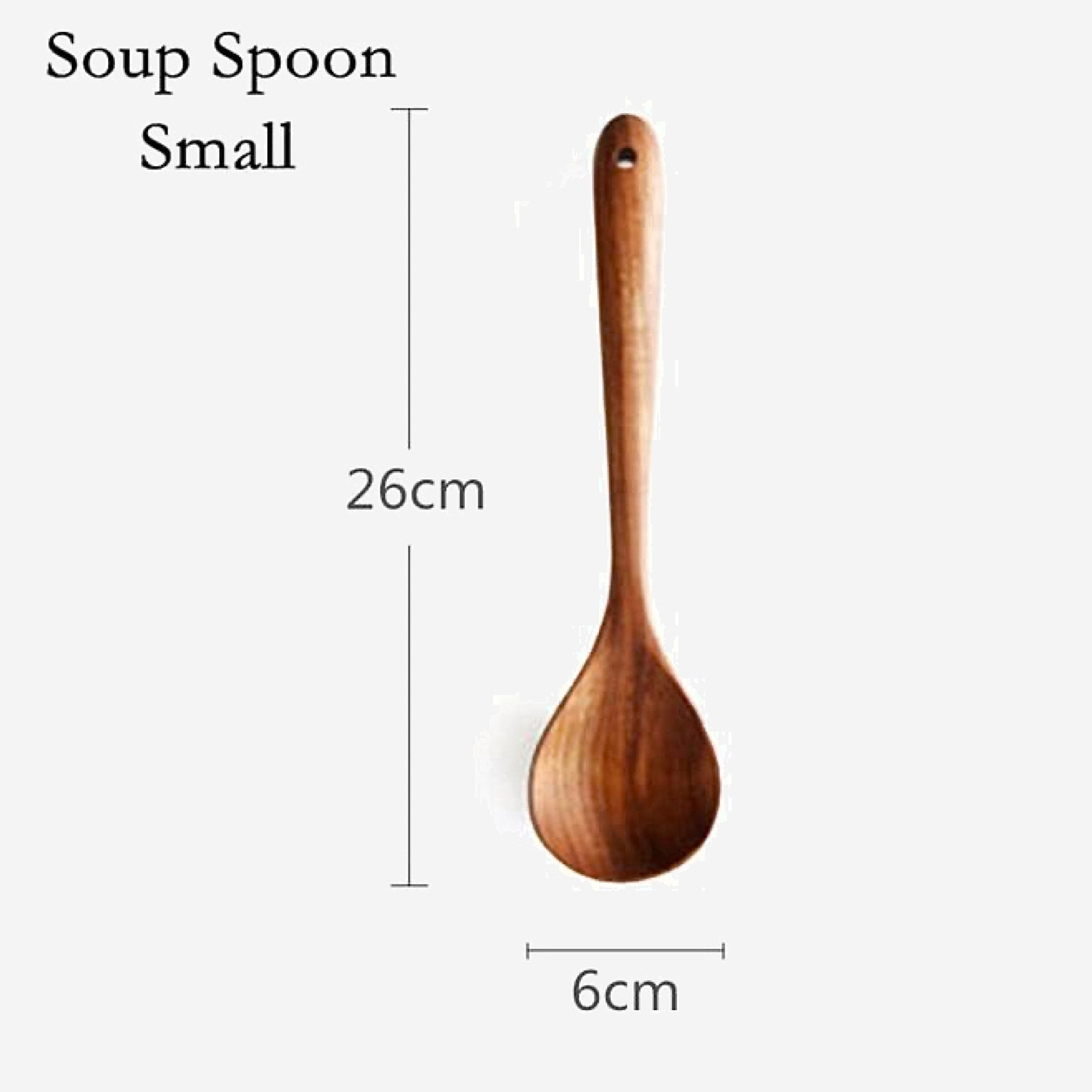 Teak Wood Utensils Set Soup Spoon Small Spatula Tableware Wooden Non-stick Cooking Tools Kitchen Set Kitchen Accessories