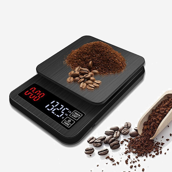 Mini LCD Digital Electronic Drip Coffee Scale with Timer 3kg / 5kg / 10kg 0.1g Weight Household Kitchen Accessories Trend