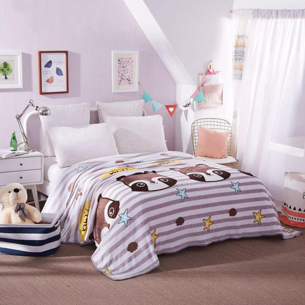 Soft Warm Cats Blanket Throw Plush Thick Fleece Blankets for Sofa Bed Bedroom Home Decor Furnishing Trend