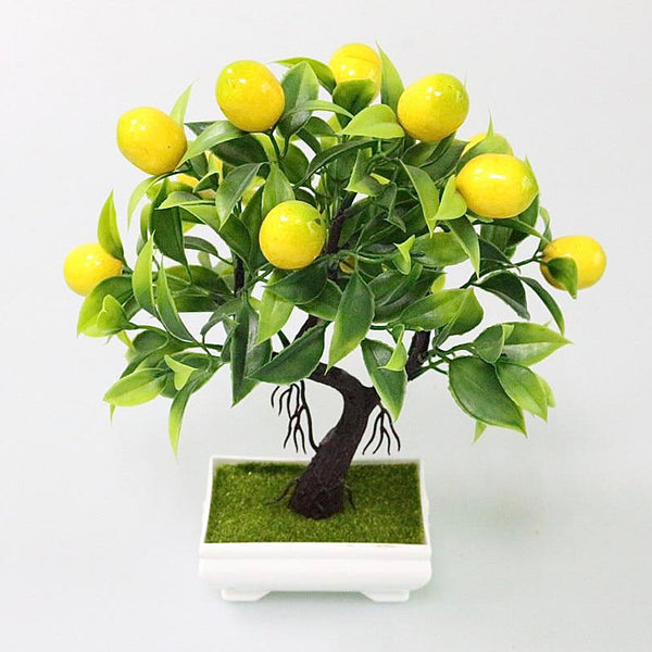 Artificial Potted Lemon Bonsai Foam Fruit Tree Mini Potted Fake Plastic Plants for Party Home Decoration Accessories Trend