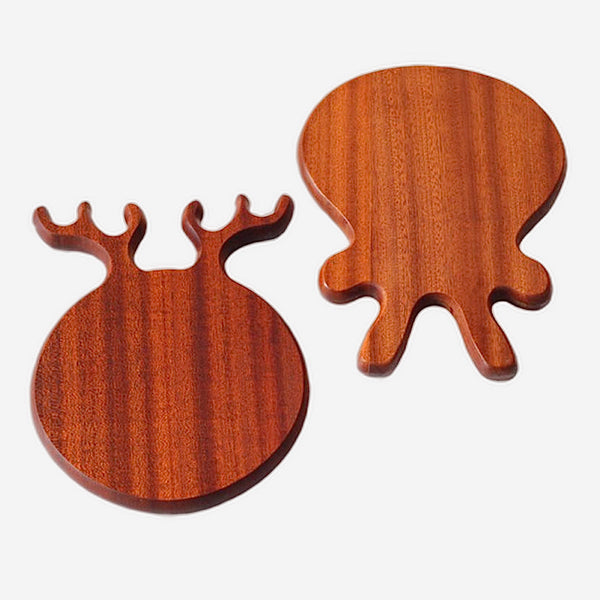 Wooden Cutting Board Irregular Rectangle Gourmet Chopping Board Handle For Cooking Animal Shape Rabbit Deer Kitchen Household Tool Accessories Trend