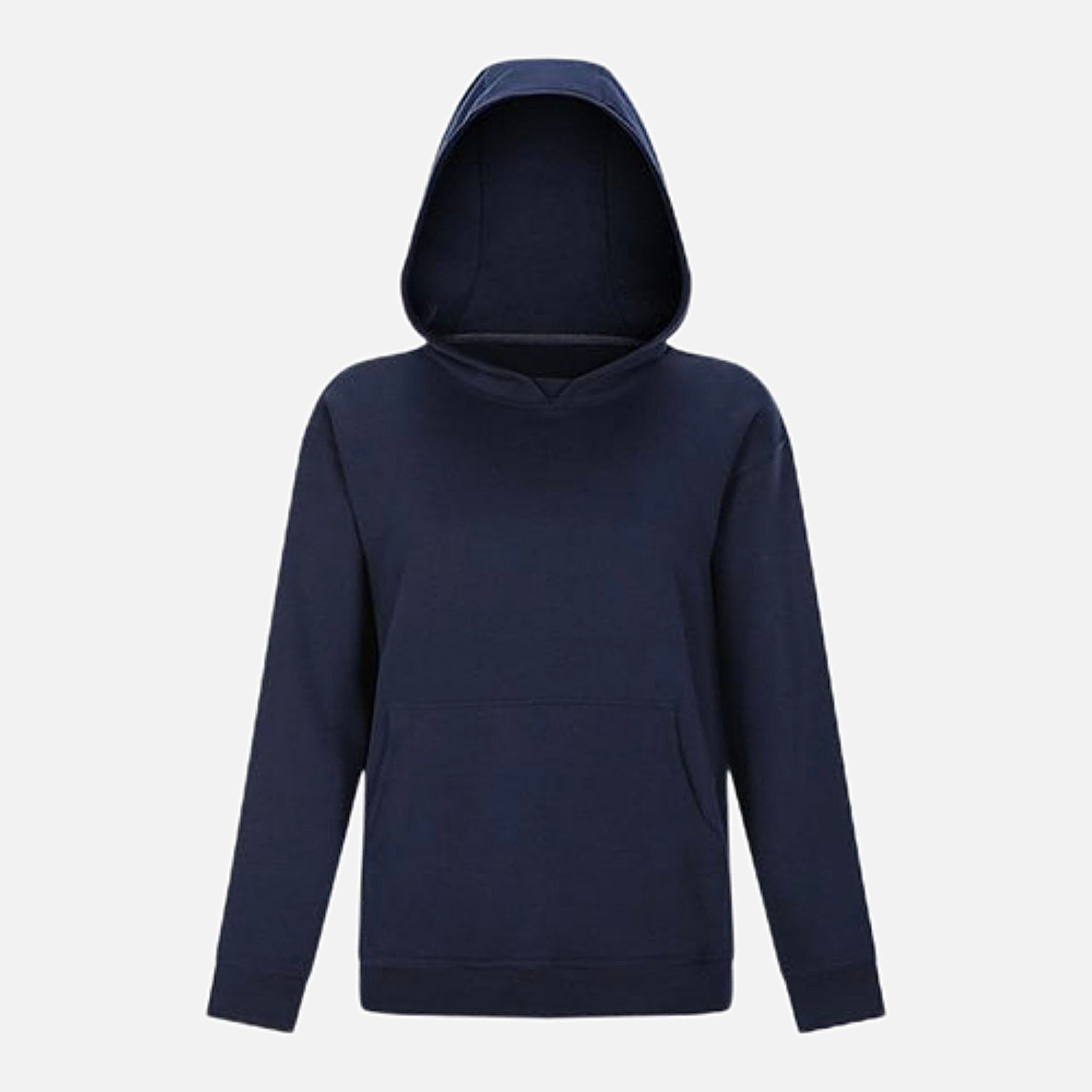 Vintage Fleece Hoodie      Classic Leisure Pocket Warm Hip Length Navy Blue color Hooded Exercise Training Gym Sport Fitness Workout Women's Outdoor miFit Sweatshirts Style Trend