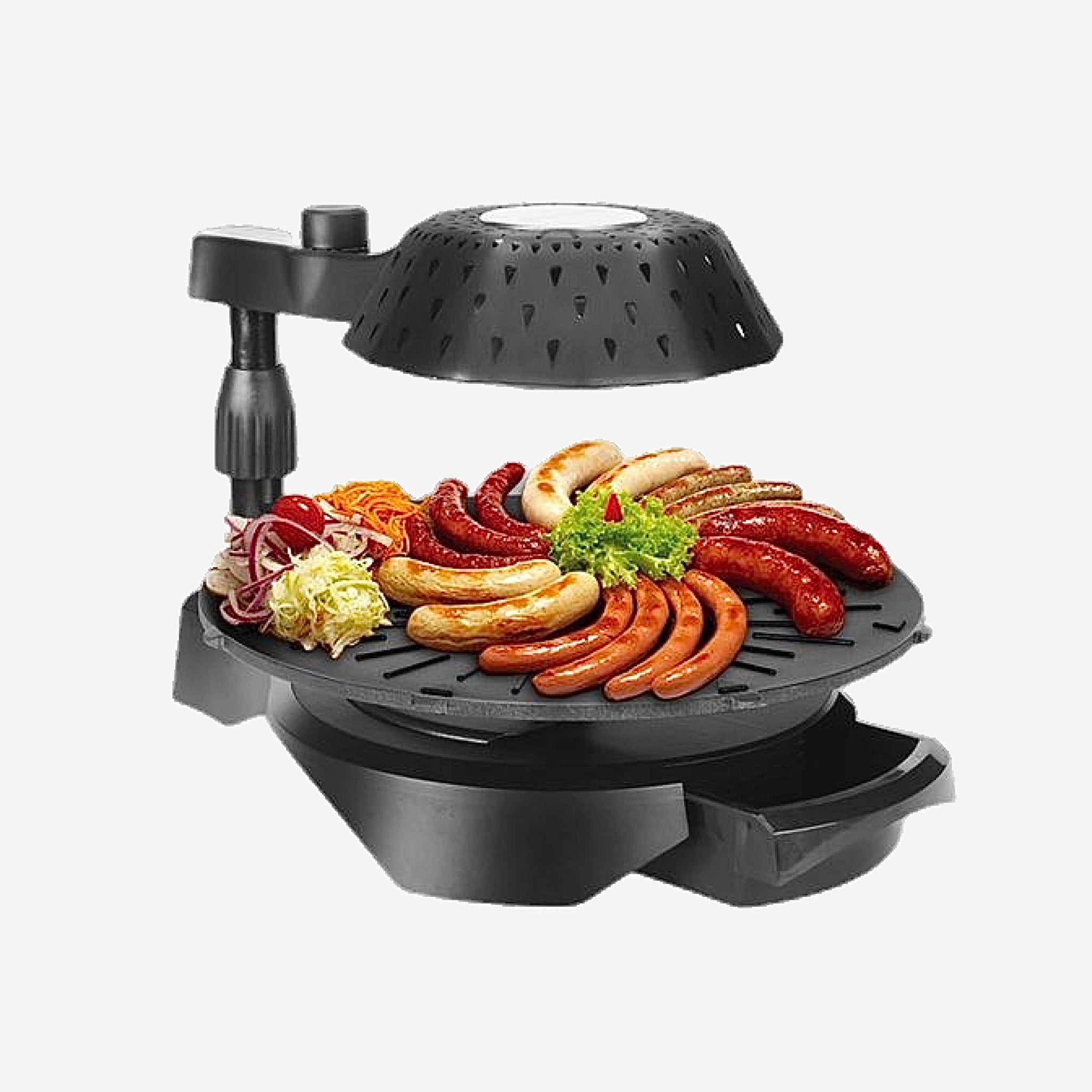 Japanese Black Rotating Infrared Grill Electric Barbecue Machine Non-stick baking pan tray Japan Home cooking appliance Trend