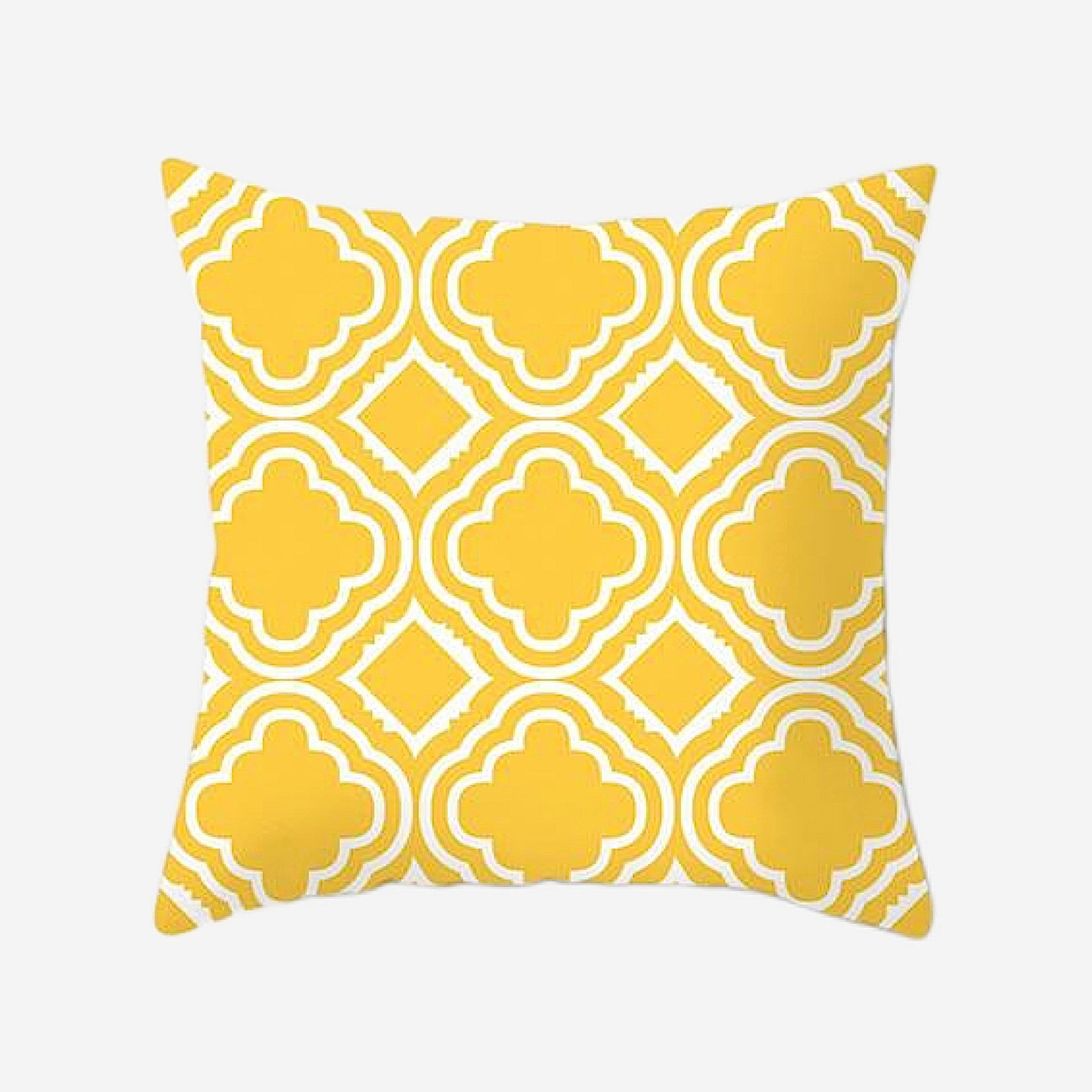 Geometric Cushion Covers Regal Yellow Print Pillow Case For Home Chair Sofa Decoration Pillowcases Cover 45cm*45cm Trend