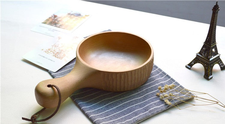 Handmade Wooden Japanese Bowl Japan Wood Dining Tableware Accessories Design