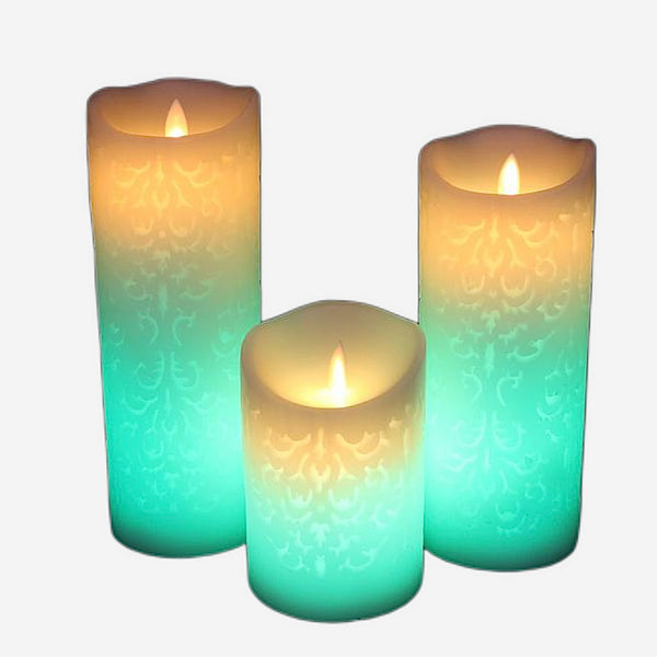 Remote control Color Change Gradient LED Candles Trend Style