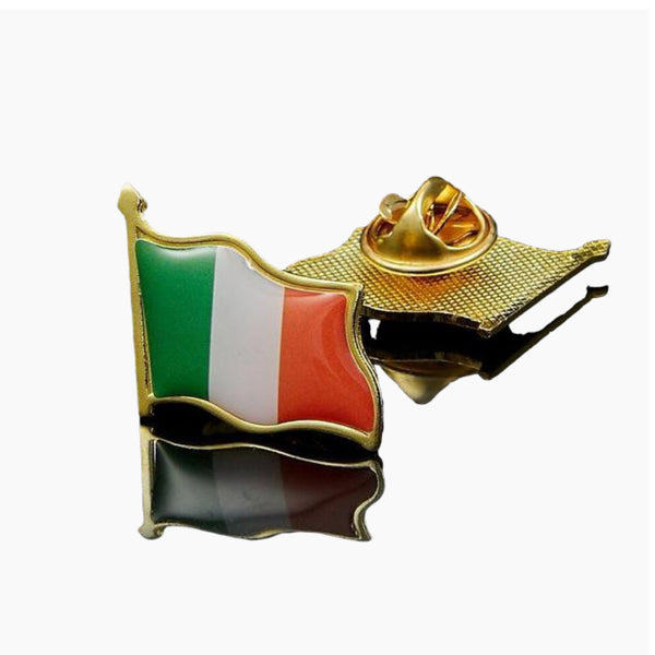 Ireland Eire Country Flag Lapel Hat Cap Tie Pin Badge Irish Republic Brooch Trend Style