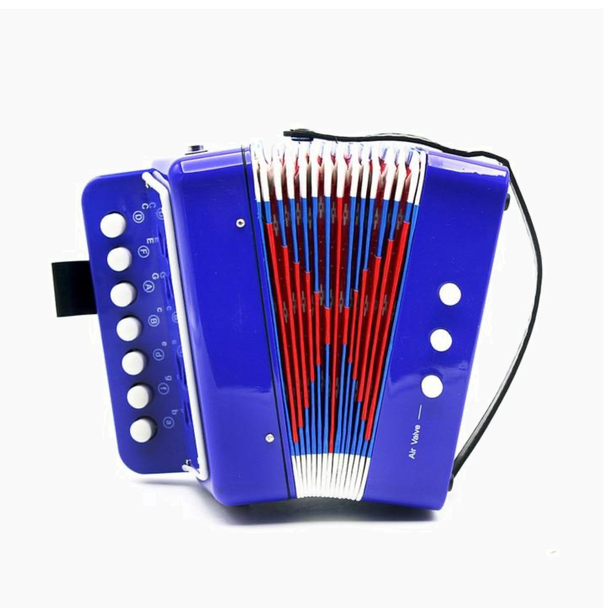 Mini Small Blue Accordion 17-Key 8 Bass Educational Musical Instrument Rhythm Band Toy for Kids Children Gift