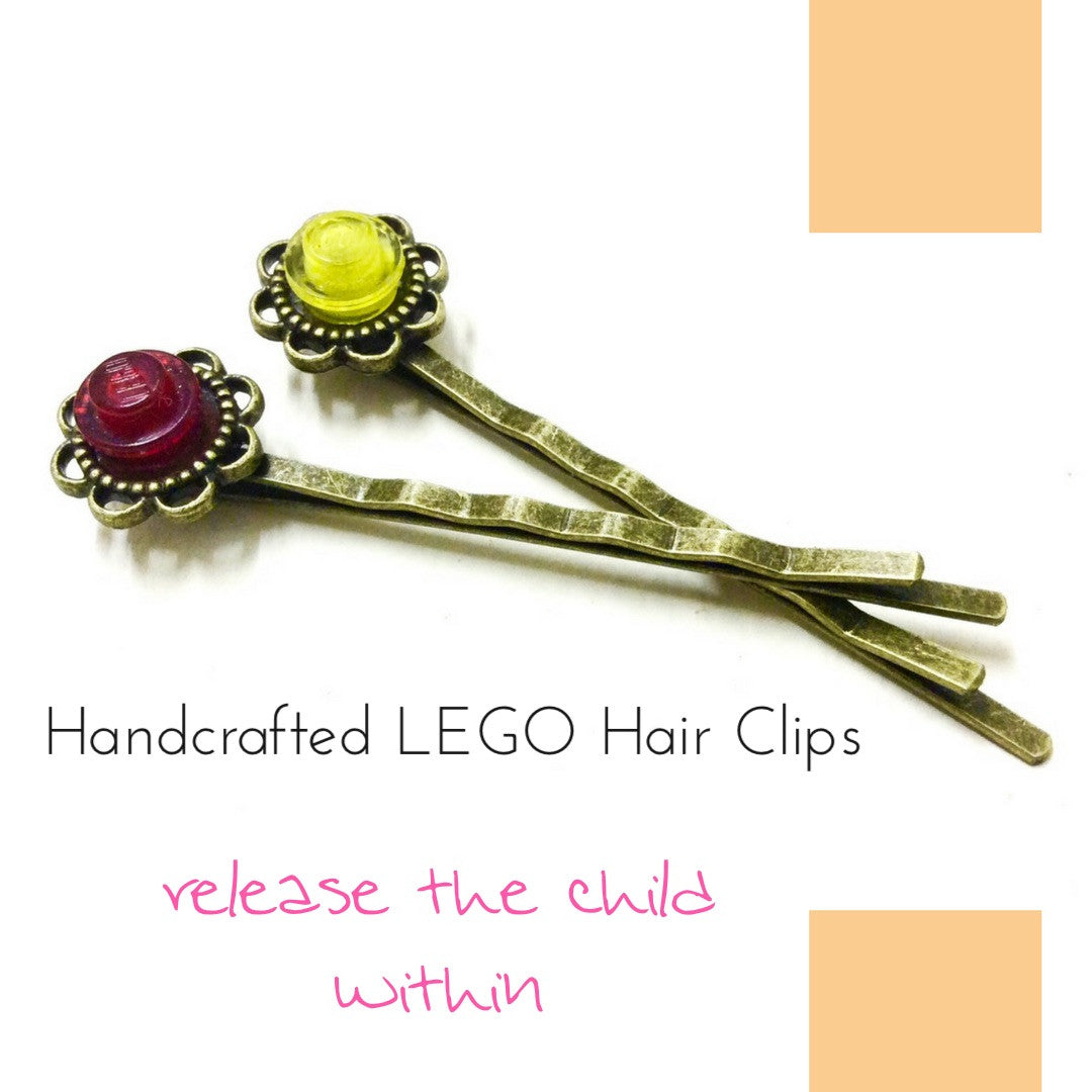 British LEGO hair clips set  A great fashion accessory