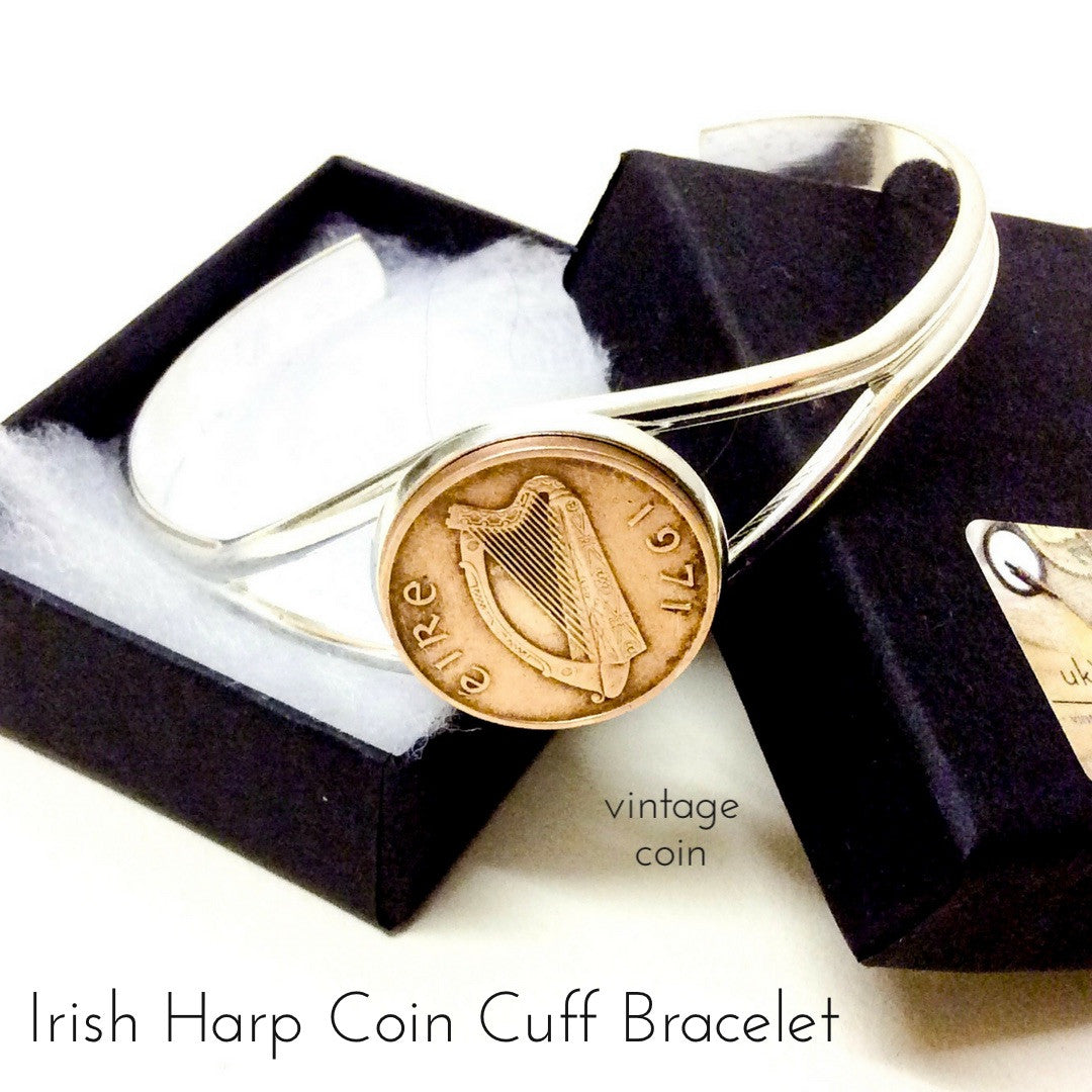 Irish Harp Coin Bracelet