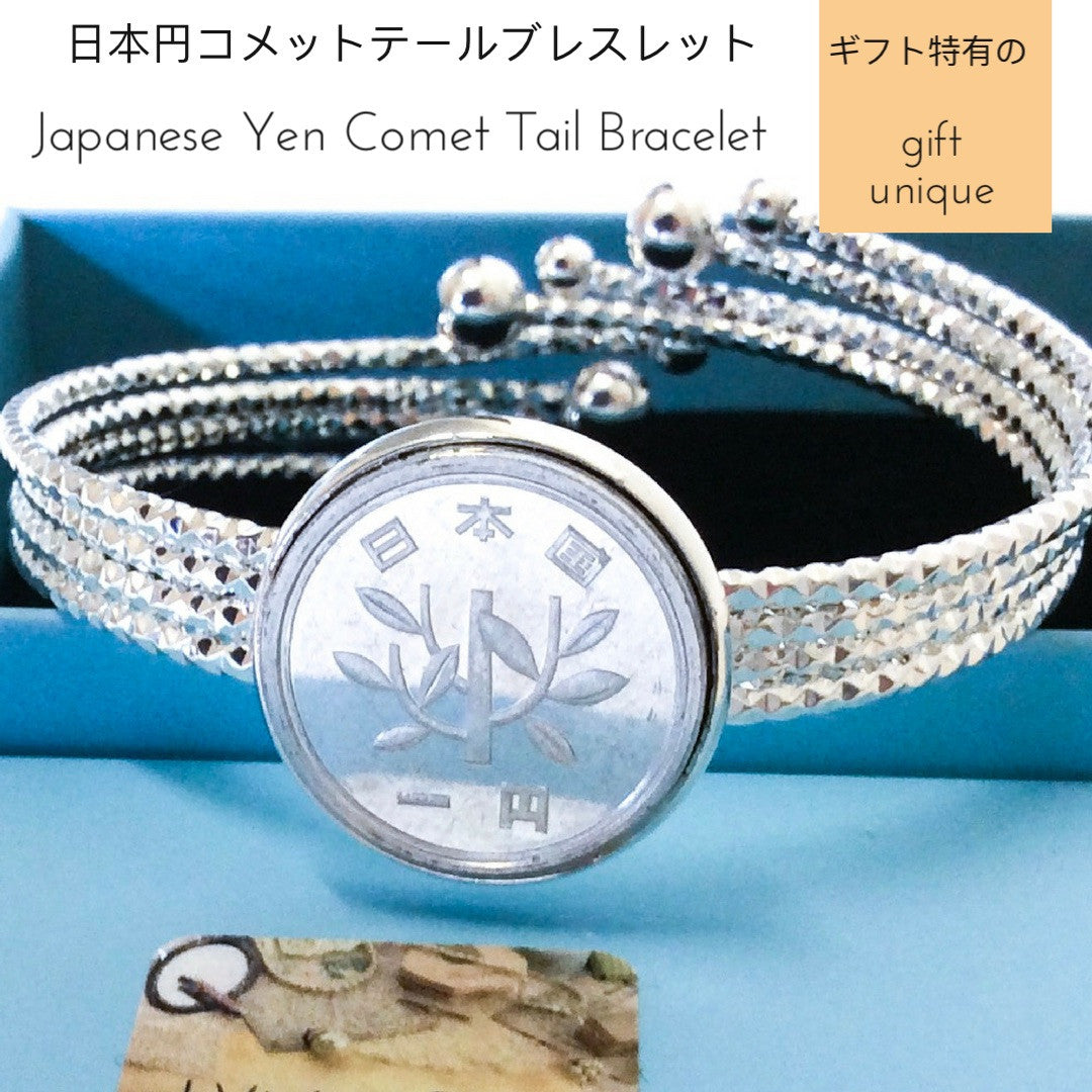 Japanese Yen Coin Comet Tail Bracelet Coin Jewelry Jewellery