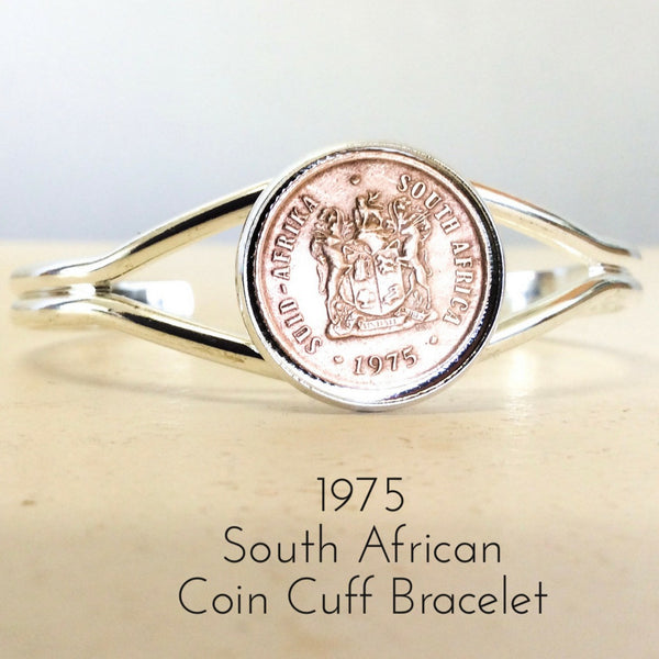 1975 south african coin bracelet